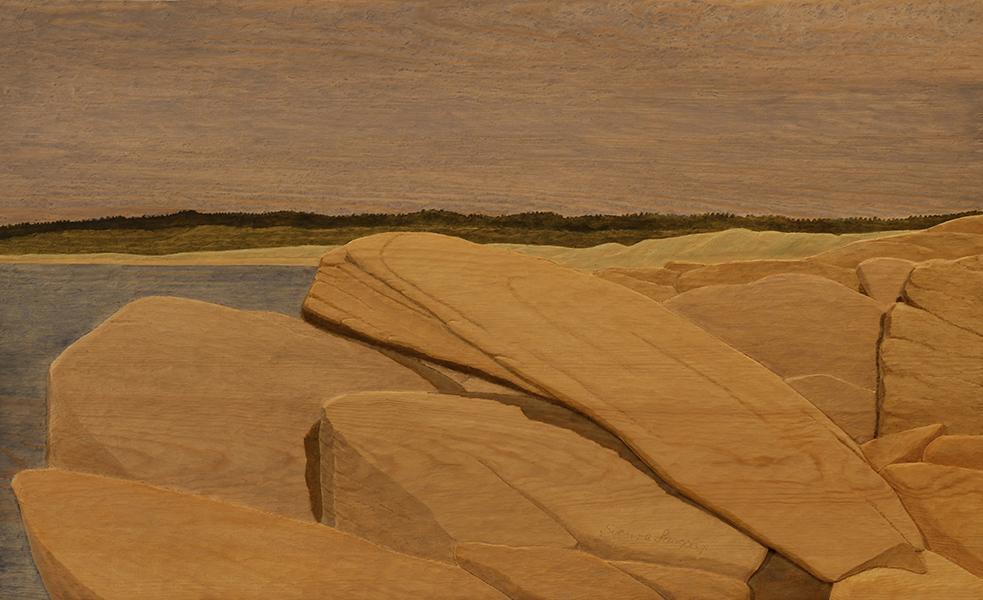 Sten på sten - 78x48cm