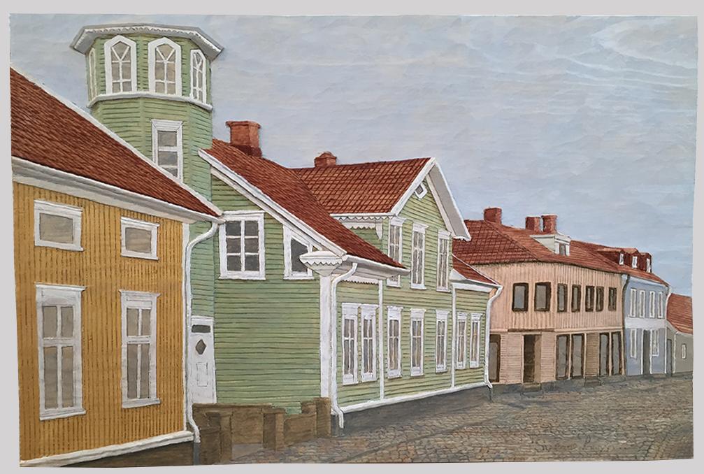 Storgatan, Falkenberg 2 - 40x26cm