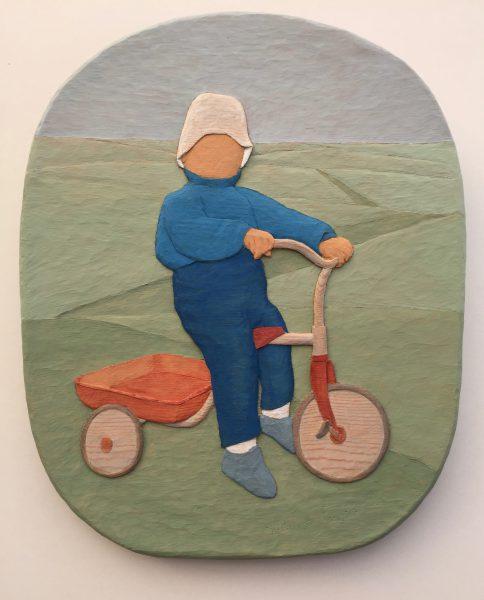 Cyklist - 33x40cm