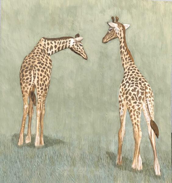 Giraffer - 29x32cm